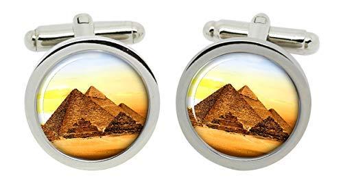 Gift Shop Pyramiden von Gizeh Manschettenknöpfe in Chrom Kiste