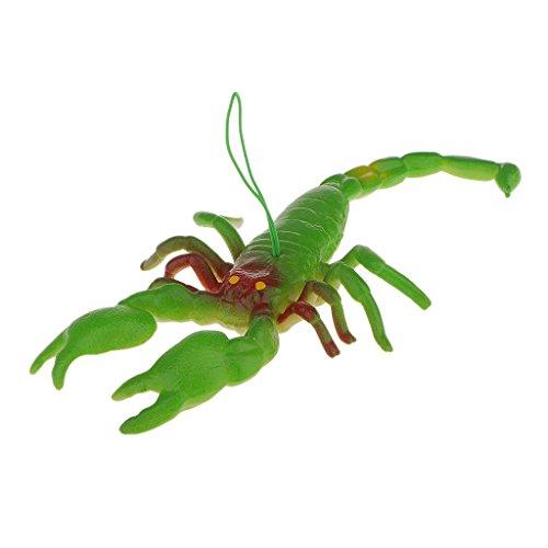 SM SunniMix Modelo de de Insecto Animal Hecho de Juguetes Educativos de Plástico para Niños para Regalo de Decoración de Fiesta de Halloween - / Escorpione - Verde, L x W: 18 x 11 cm