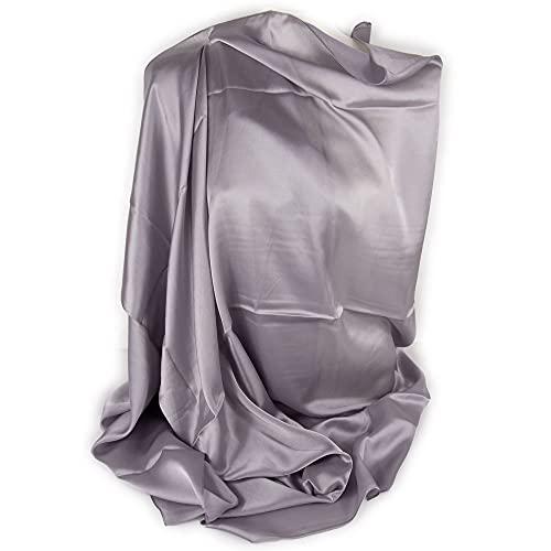 Emila Stola donna cerimonia coprispalle elegante estivo foulard scialle grande da matrimonio per abito da sera ragazza signora anziana sciarpa misto seta lucido primavera estate 2021 Argento