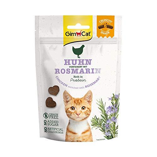 GimCat Crunchy Snack Huhn mit Rosmarin - Knuspriges und proteinreiches Katzenleckerli ohne Zuckerzusatz - 1 Beutel (1 x 50 g)