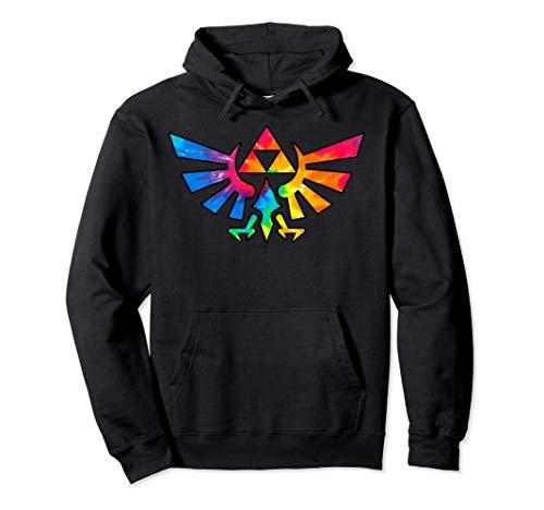 Legend of Zelda Triforce Symbol Tie Dye Pullover Hoodie