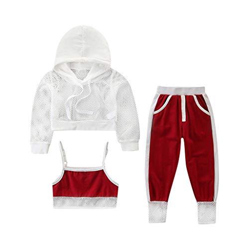 Kleinkind Baby Art und Weisesport Ineinander greifen Breathable mit Kapuze Coat + Vest + Pants Outfits