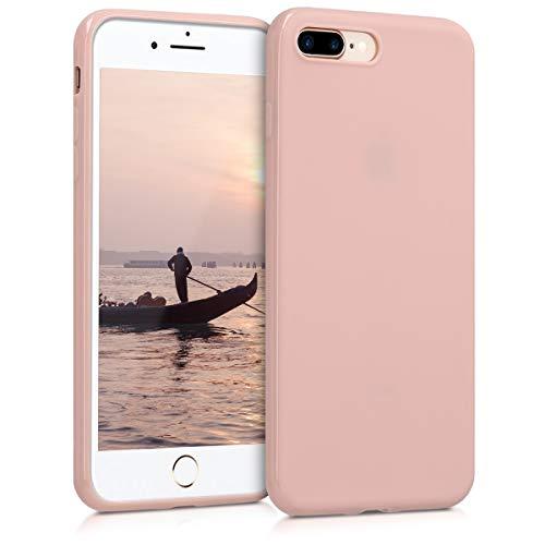 kwmobile Coque Compatible avec Apple iPhone 7 Plus / 8 Plus - Housse de téléphone Protection Souple en Silicone - Or rosé Mat