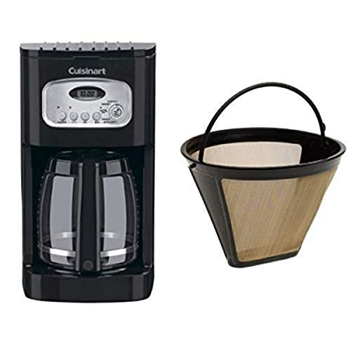 Cuisinart DCC-1100BK 12-Cup Programmable Coffeemaker and Filter Bundle