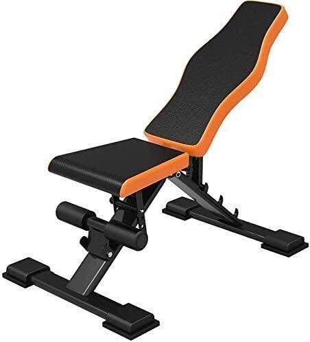 XiYou Klappbare Hantelbank Verstellbare Faltbar, Sit-ups Fitness, Workout Faltbar Heimtraining Fitnessstudio Workout Bauchmuskeln Hantel-Trainingsgeräte Maximal zulässig von 120 kg