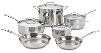 Cuisinart 77-10 Chef's Classic Stainless 10-Piece Cookware Set Image