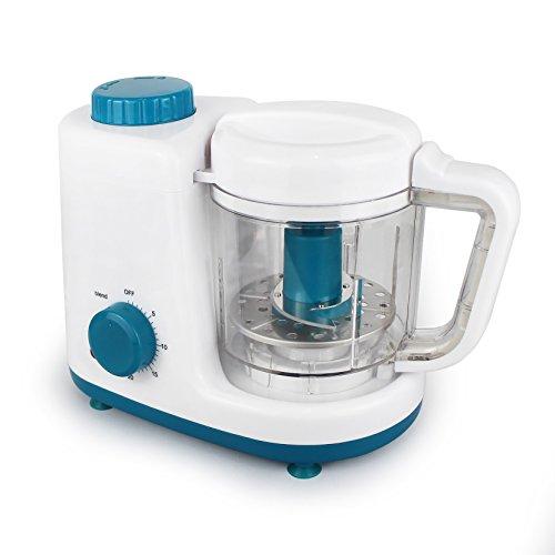 Leogreen – Baby-Küchenmaschine, Mixer für Babynahrung, Weiß/Blau, Funktion: 2 in 1 Dampfgarer und Mixer, Spannung: 220-240 V - 2