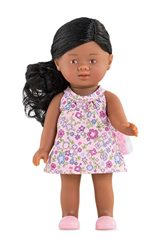 Corolle - Mini Corolline Rosaly 8' Doll with Black Hair and Floral Dress, for Kids Ages 3 Years +