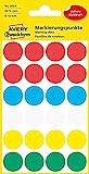 AVERY Zweckform 3089 selbstklebende Markierungspunkte (Ø 18 mm, 96 Klebepunkte auf 4 Bogen, runde Aufkleber für Kalender, Planer und zum Basteln, Papier, matt) bunt