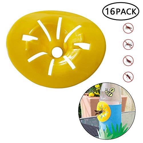 Volwco 6219947559395 - Trampa Exterior para Combatir los Insectos en el jardín doméstico, eficaz y no Reutilizable, Color Amarillo