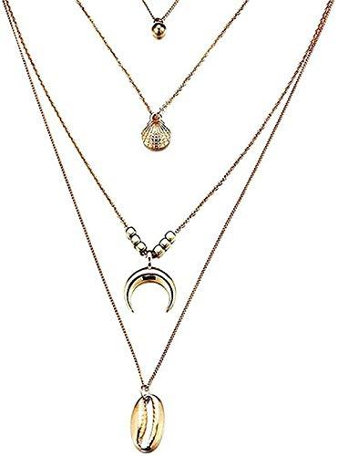 NC198 Collar Collar Collares en Capas Bohemios para Mujer Gargantilla de Cristal Collar Largo Joyas