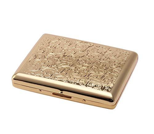 坪田パール(Tsubota Pearl) 喫煙具 ゴールドアラベスク 10.6×9×3cm カジュアルメタル20本(100mm) シガレットケース 1-92129-41