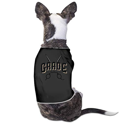 Nicokee Puppy Dogs Shirts Costume Barber Pets Clothing Warm Vest T-Shirt L
