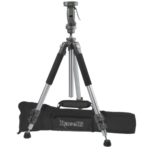 Ravelli APGL4 Professional 70' Tripod with Adjustable Pistol Grip Head and Heavy Duty Carry Bag