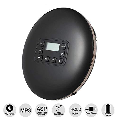Personal CD-speler met koptelefoon, 3,5 mm koptelefoonaansluiting, een kleine muziek-cd walkman met skip-functie, CD-type CD-speler