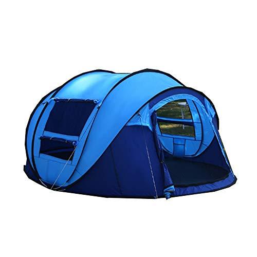 XND テント 自動キャンプテント 折りたたみテント キャンプテント ワンポールテント ポップアップテント ワンタッチテント サンシェードテント 5−8人用 大空間 軽量 収納簡単 持ち合わせ便利 アウトドア用品 キャンプ 防災用海水浴 釣り S-126