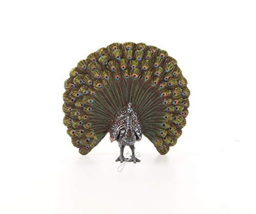 Moritz Design brons beeld Vienna stijl pauw vogel bont 2,3 x 8,8 x 8,1 cm sculptuur bronzen beeld bronzen figuur bronzen beeld