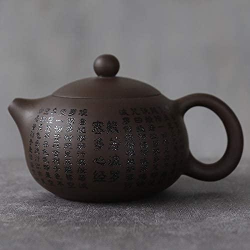 ZJSXIA Juego de té Tetera de cerámica de Arcilla púrpura Zisha Xishi Tea Pot Drinkware 145ml Juego