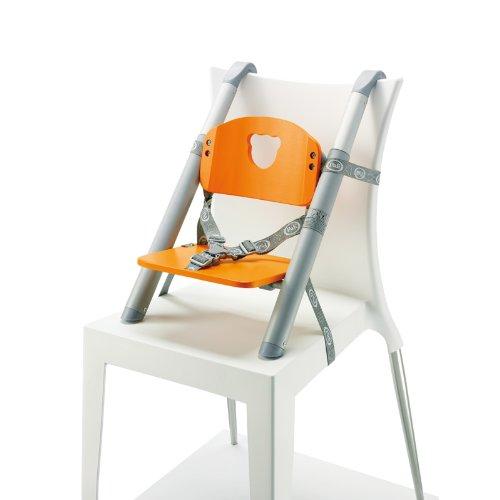 Pali pliante Chaise haute/Rehausseur (Orange)