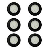 6 x LED 12V 24V Spot Lights Black Ceiling Dome Lamp RV Caravan Motorhome Boat Surface Mounted Downlights