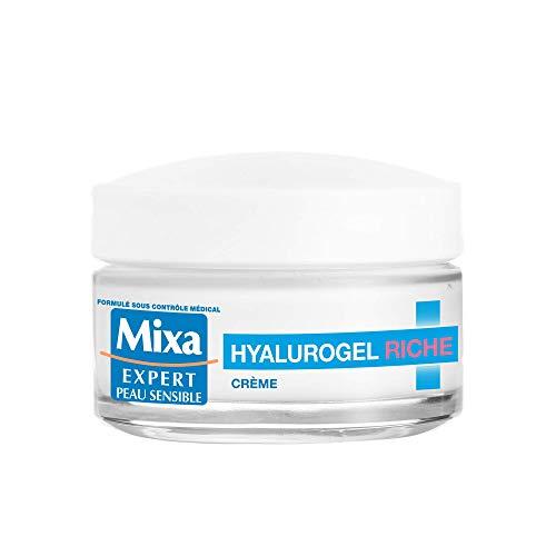 Mixa Expert Peau Sensible - Hyalurogel Riche - Crème Hydratante Intensive 24H - 50 ml - Lot de 1
