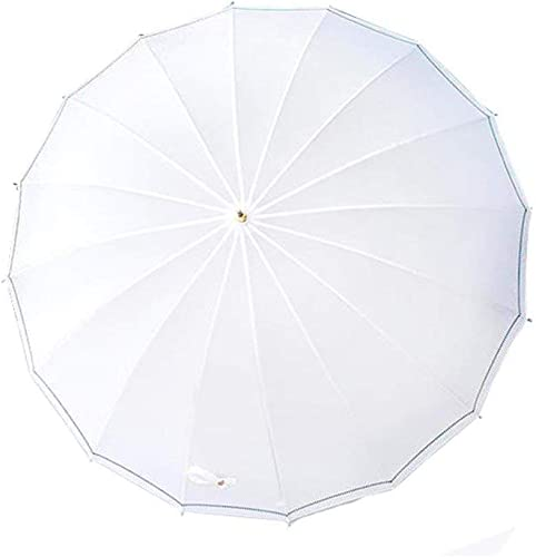 Y-S Parapluie à Long Manche Créatif Grand Renforce la Littérature Et l'art Petit Déesse Sen DéparteHommest Rétro Couleur Blanche Parapluie Simple, Parapluie, a