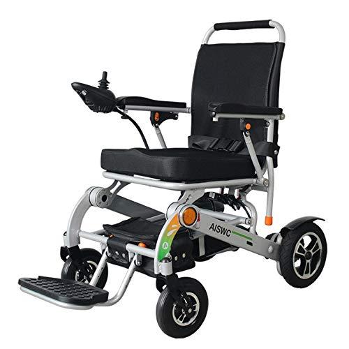 GNLIAN HUAHUA elektrischer Rollstuhl günstigsten preise Falten elektrische steckenrollstuhl für Behinderte und ältere ältere Roller draussen (Color : Sliver)