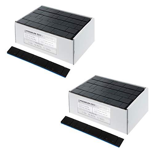 Stix Stahlgewichte Klebegewichte für Alufelgen Black - 60g (5g+10g schwarz) - 200 St.