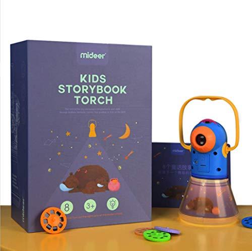 Calistouk Lámpara de proyección proyector de Historia multifunción niños educación temprana Cielo Estrellado luz de sueño Juguete Luminoso