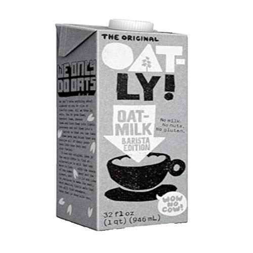 Oatly Oat Milk Barista Edition Non-Dairy Gluten Free, 32 oz (1 liter) - Pack of 2