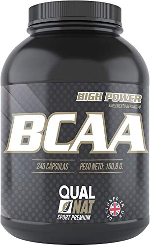 BCAA |240 capsule | per l' allenamento e lo sviluppo muscolare | integratore sportivo di aminoacidi a catena ramificata con vitamine B2 e B6 | aiuta a perdere peso| Qualnat
