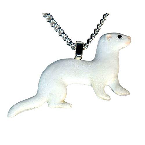 DEW or Dark Eyed White Ferret Necklace 734