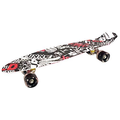 Prokick Polypropylene Skateboard with Flashlight Wheels - Senior - White