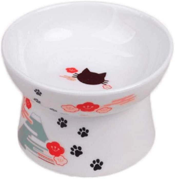 Tilted Pet Feeder Atlanta Mall Ceramics Cat Dog Bowl P Albuquerque Mall Raised Protection Neck