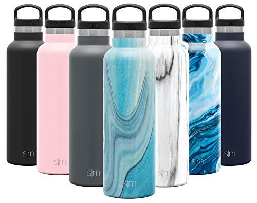 12oz Simple Modern 355 ml Vaso Termico de Viaje Caf/é Termica Para Llevar Acero Inoxidable Botella de Agua Dos Tonos: Mares tropicales Voyager Termo Taza con Paja