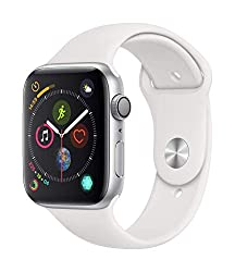 Apple Watch Series 4 (GPS, 44mm) – Silver Aluminium Case - best medical smartwatch with white nurse apple watch band -