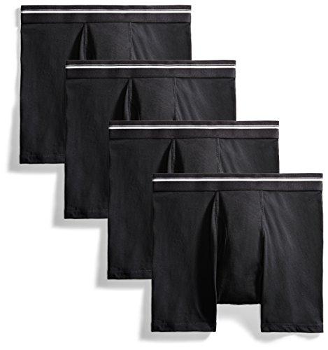 Goodthreads Men#039s 4Pack TagFree Boxer Briefs Black Large