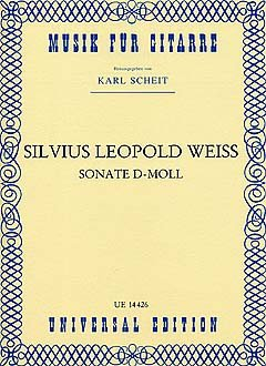 SONATE D-MOLL - arrangiert für Gitarre [Noten / Sheetmusic] Komponist: WEISS SILVIUS LEOPOLD