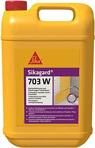 Sikagard 703W, Impregnación repelente al agua transparente, lista para su uso, para proteger las fachadas frente a la penetración del agua, 5L