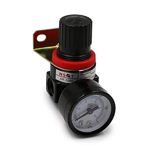 HYY-YY AR2000 G1 / 4 '' Mini alivio neumático de las unidades de tratamiento de control de alivio de la presión de la presión del aire con el ajuste del indicador (Color : AR2000)