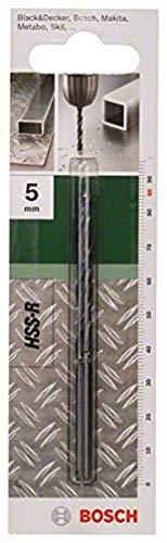 Bosch Professional 2 609 255 011 Broca para metal HSS-R, DIN 338, 5 mm