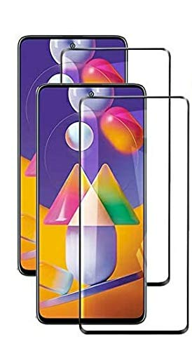 Zarala Full Coverage superzoom Glass 0.3mm Edge to Edge lite Tempered Glass For samsung m21 (2 piece)