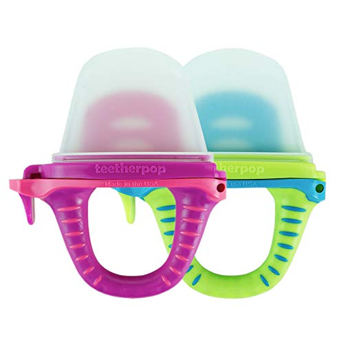 teetherpop 2 Pack Fillable, Freezable Baby Teether for Breastmilk,...