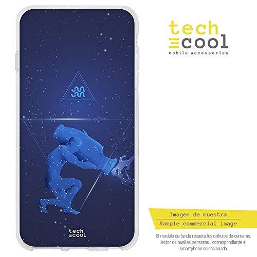Funnytech® siliconen beschermhoes voor Xiaomi Mi5S Plus [flexibele siliconengel, exclusief design] sterrenbeeld aquarium