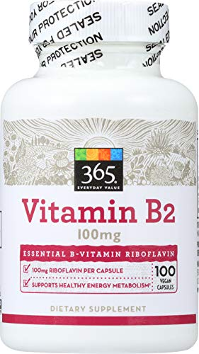 365 Everyday Value, Vitamin B2 100mg, 100 ct