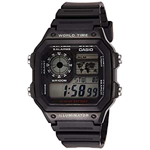 Casio watches Casio Men's AE1200WH-1A World Time Multifunction Watch
