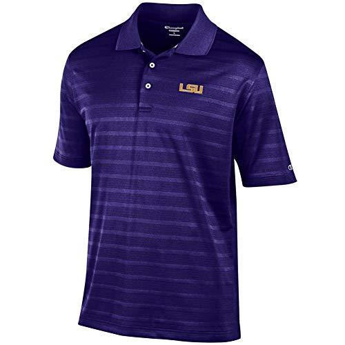 Elite Fan Shop LSU Tigers Polo Shirt Purple - Medium