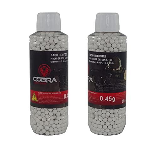 Cobra Tactical Solutions 1400 BB 0.45g Bianchi Pallini Palline Softair Soft Air Munizioni biodegradabile bio