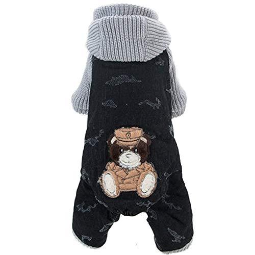 AXIANQI Hond Vierbenige Kleding Herfst En Winter Geladen Dikke Warm Teddy Bomei Puppy Huisdier Kleding Zwarte Beer Brei Vier Kleding Kleding