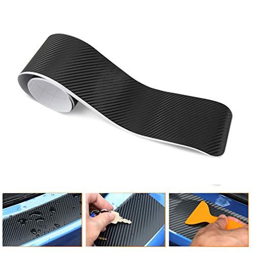 QEUhang 3D Ladekantenschutz Stoßstange Kratzer hinten Kofferraumschutz Trim Abdeckung 90 cm x 7,0 cm